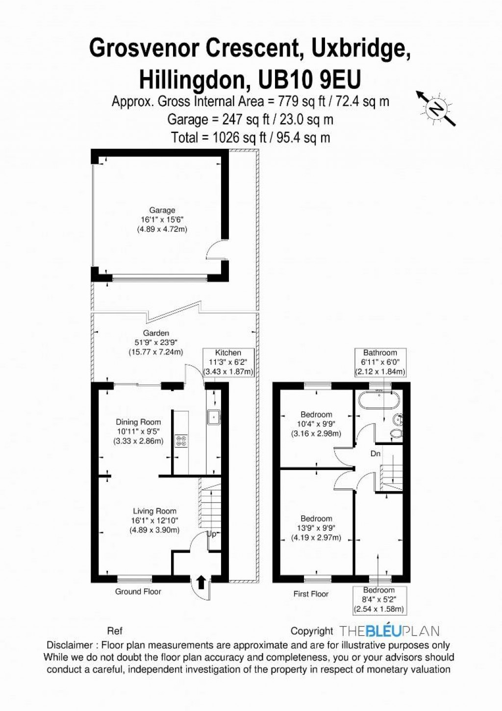 Floorplans For Grosvenor Crescent, Uxbridge